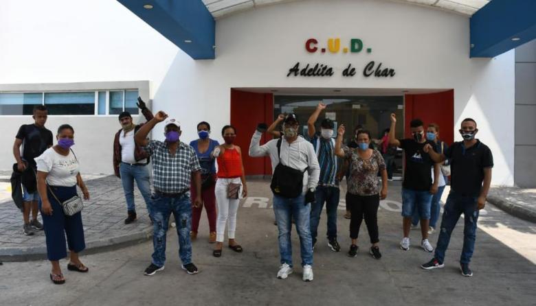 En video   Familiares de pacientes protestan en Camino Adelita de Char