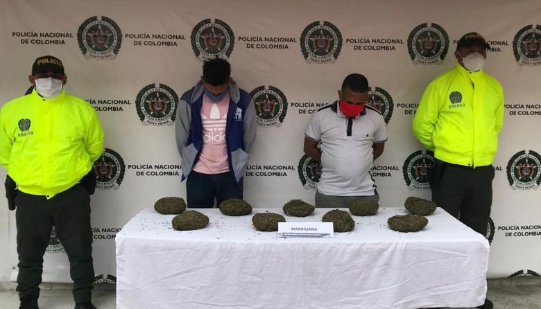 Capturan a sujetos que portaban más de cinco kilos de marihuana en Ciénaga