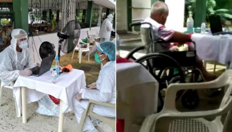 Tamizaje aplicado a ancianos y empleados del asilo de Montería.