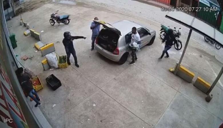 Robo a mano armada en Sincelejo quedó grabado en video