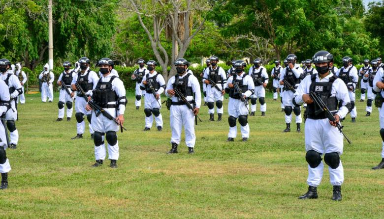 Miembros del Ejército que apoyarán controles en el Atlántico.