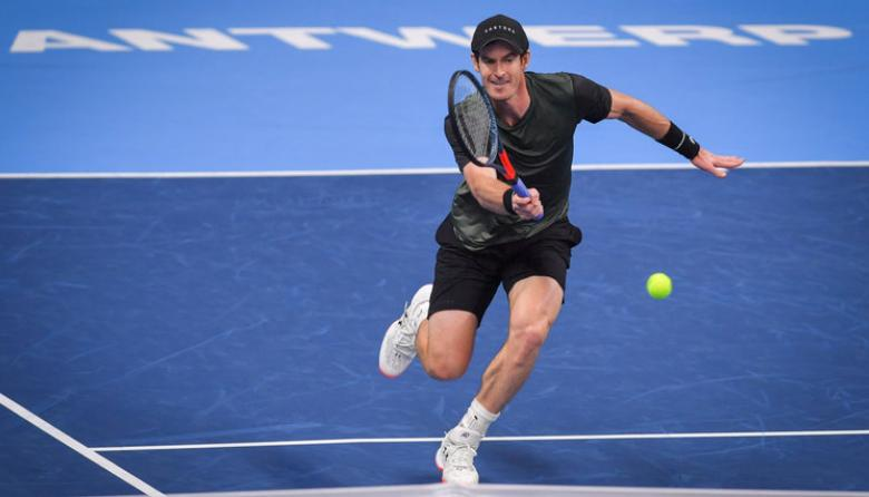 Andy Murray durante un partido.