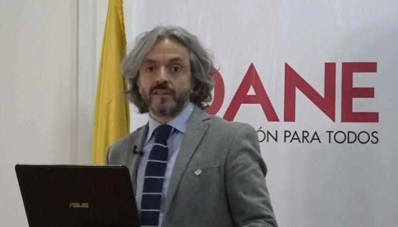 Juan Daniel Oviedo Arango, director del DANE, durante la rueda de prensa.