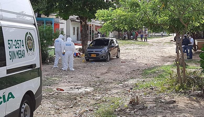 Atentado en el barrio Santo Domingo deja dos muertos