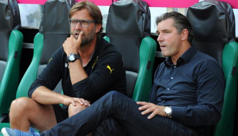 Michael Zorc junto a Klopp en su etapa en el Dortmund.