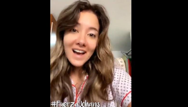 "En video | Daniella Álvarez alienta a futbolista amputada: ""¡Fuerza!"""