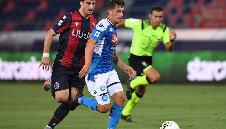 Acción del duelo entre el Bolonia y el Nápoles.
