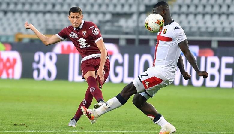 Génova, de Cristian Zapata, cae ante Torino y sigue en riesgo de descenso
