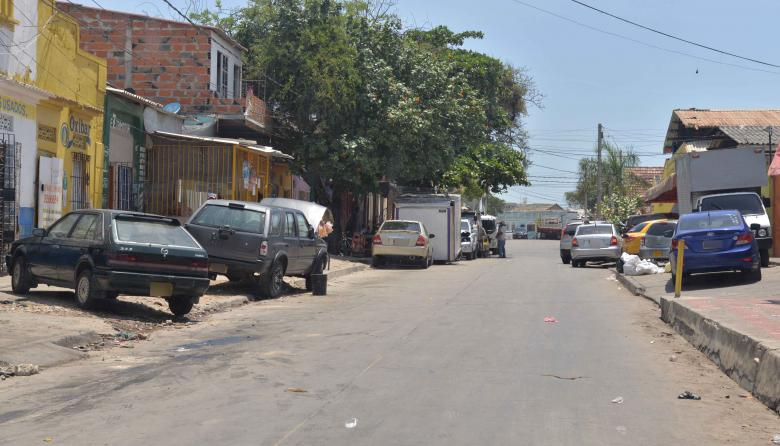 Vista de una de las calles del barrio Montes, ubicado en la localidad Suroriente de Barranquilla.