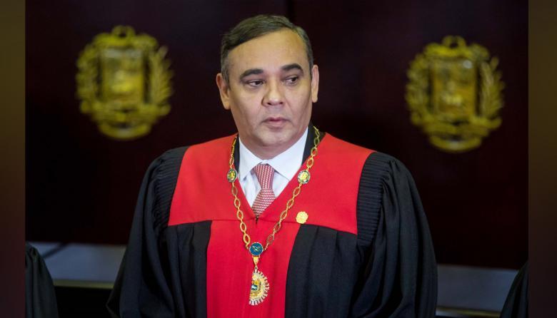 Maikel Moreno, presidente del Tribunal Supremo de Justicia de Venezuela.