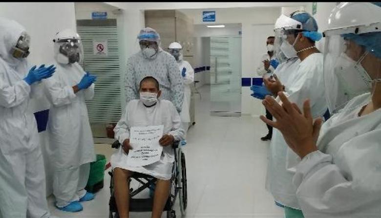 Primeros recuperados por coronavirus en UCI del hospital de Cereté