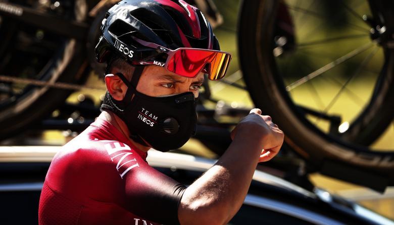El ciclista colombiano Egan Bernal.