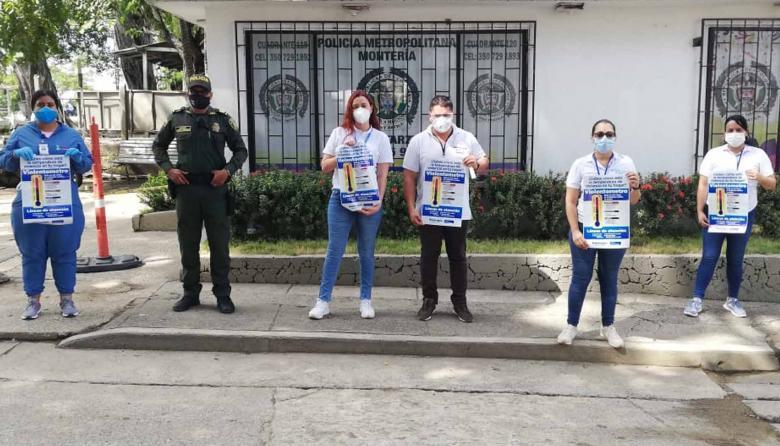 En Montería le 'miden la temperatura' a los hogares durante la pandemia
