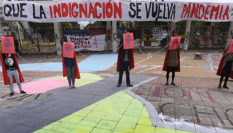 Universitarios en Bogotá piden con huelga de hambre que no cobren matrícula