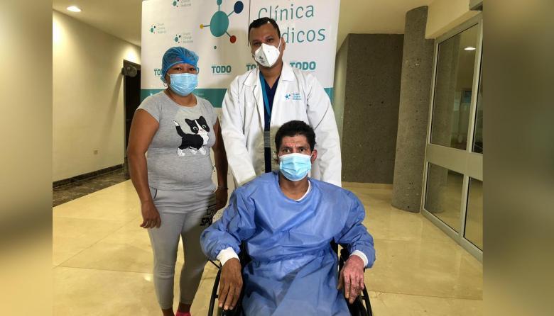 """""""Wilmer, eres un campeón"""": médicos al dar de alta a paciente de Tasajera"""