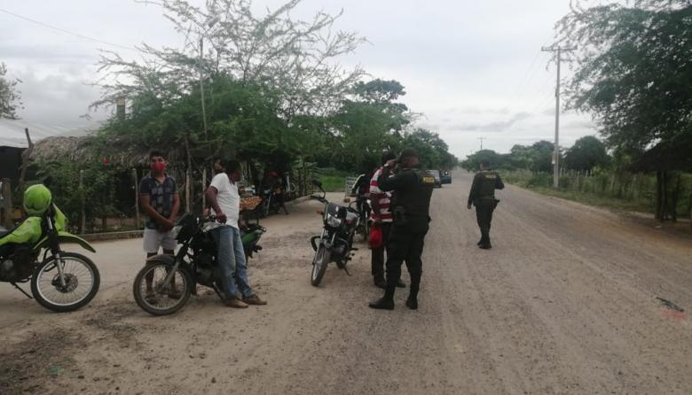La Policía implementó medidas de seguridad en el municipio de Tierralta.