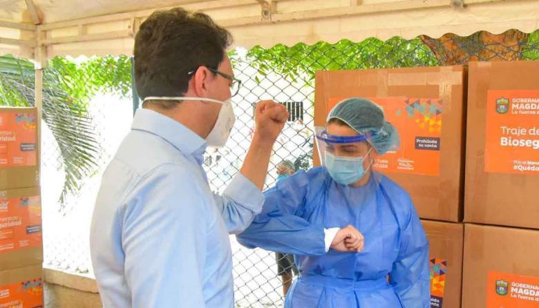 Entregan 135 mil kits de protección a la red hospitalaria del Magdalena