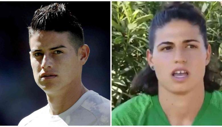 El asombroso parecido entre la arquera de la AS Roma y James Rodríguez