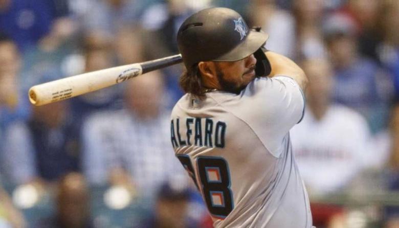 Jorge Alfaro conectó dos imparables frente a los Mets de Nueva York.