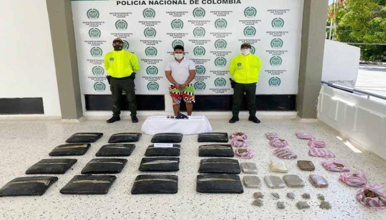 Elkin David Aguado Gamboa, capturado.