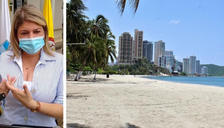 'Reapertura de playas se hará con restricciones': alcaldesa de Santa Marta