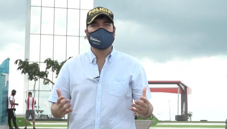 El alcalde Jaime Pumarejo en la Ventana de Campeones.