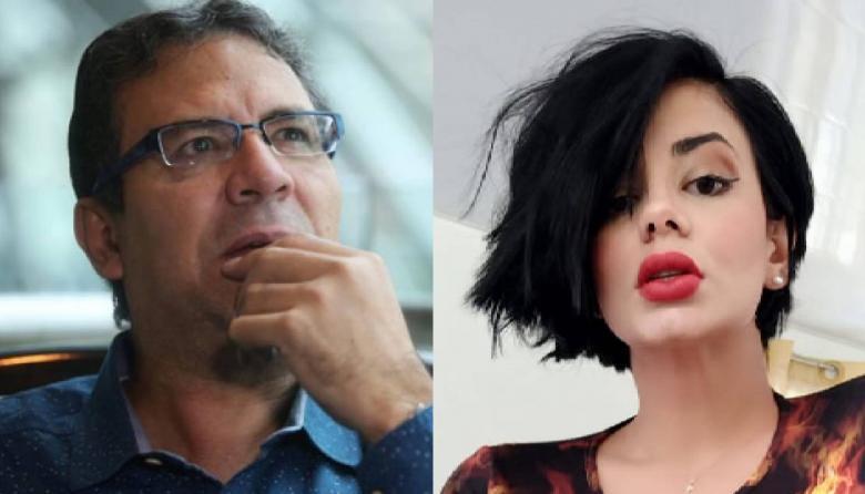 El cronista Alberto Salcedo Ramos y la periodista Alejandra Omaña, también conocida como Amaranta Hank.