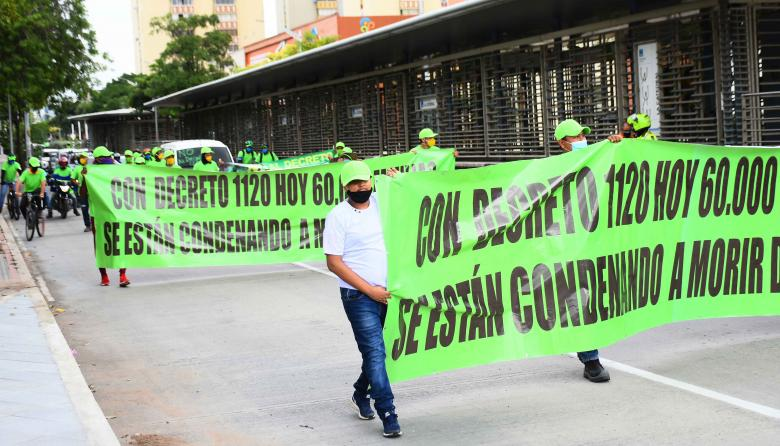 Nueva jornada de paro nacional se toma las calles de Barranquilla