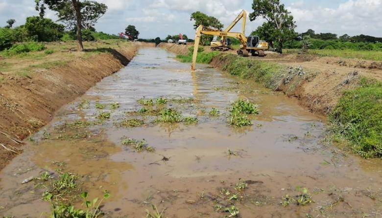 Reinician obras en caño El Burro para llevar agua dulce a la Ciénaga Grande
