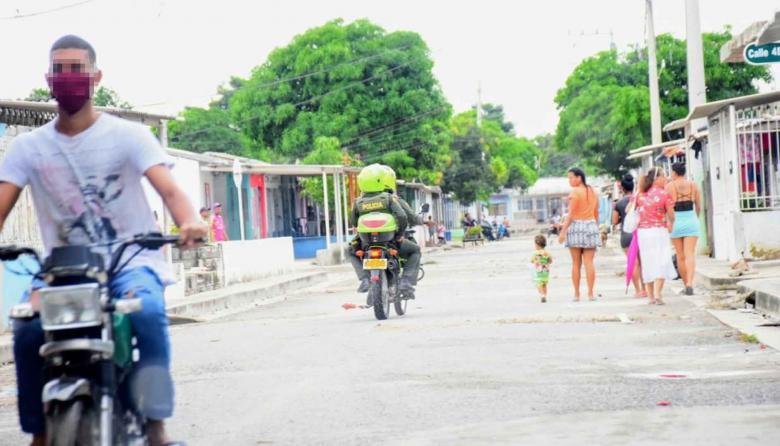 Persecución en Malambo deja dos policías heridos
