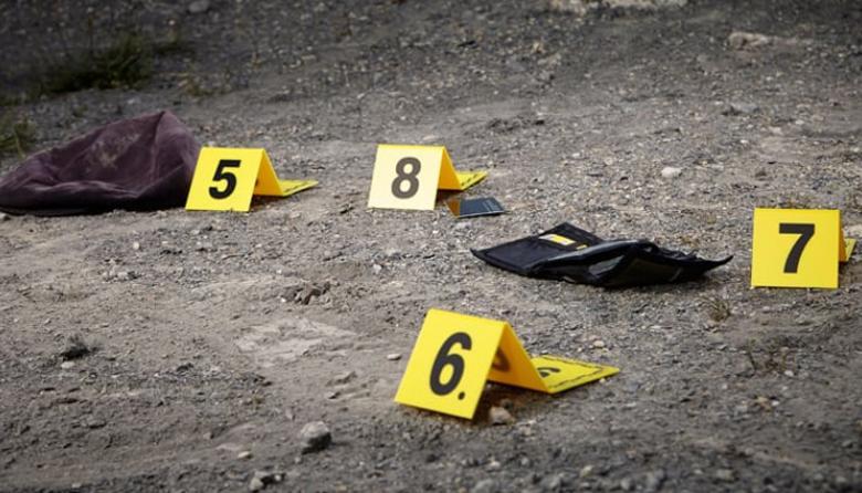 Aspectos de una escena del crimen en Santa Marta.