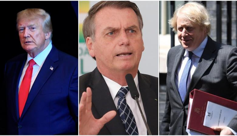 Trump, Bolsonaro y Johnson: 3 líderes escépticos con coronavirus
