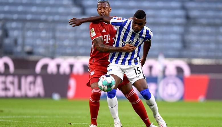 Un gol de Jhon Córdoba y cuatro de Lewandowski, en el duelo Bayern-Hertha