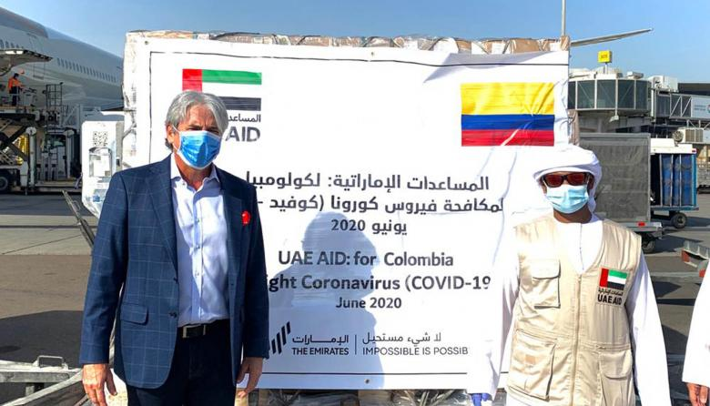 Nuevos insumos médicos llegan al país desde Emiratos Árabes