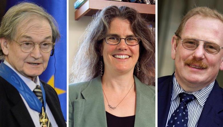 Roger Penrose, Andrea Ghez y Reinhard Genzel.