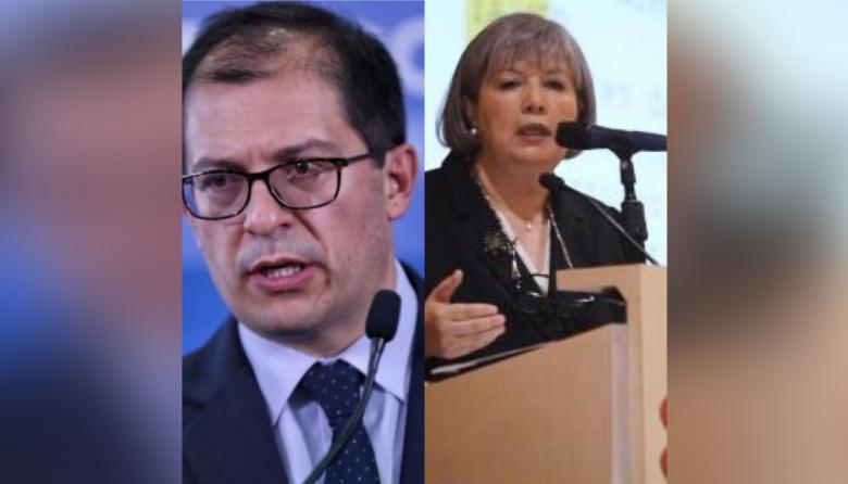 Francisco Barbosa, fiscal General, y Patricia Linares, presidente de la JEP.