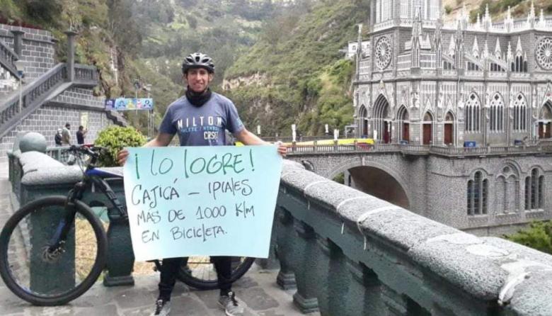 José Antonio Duarte, ciclista que murió atropellado.