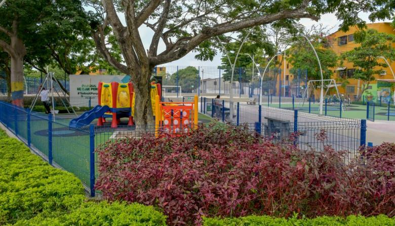 Parque Édgar Perea, en la Ciudadela 20 de Julio.