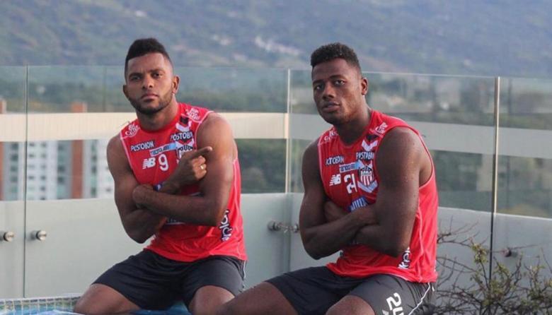 Borja y Rosero, durante la recuperación en Armenia.