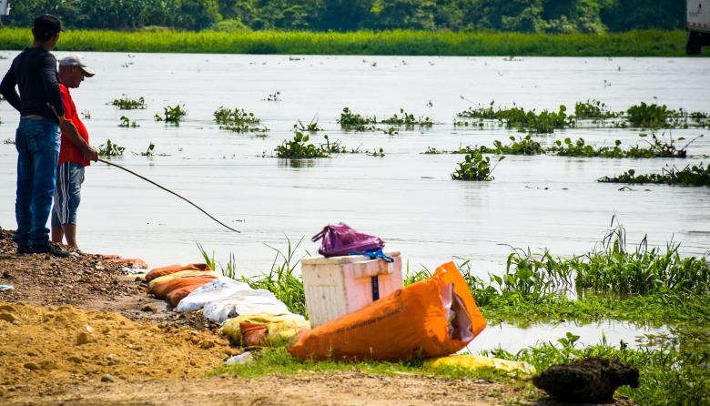 En la actualidad el río presenta una altura de 6,37 metros en la estación San Pedrito, en Suan.