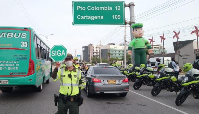 En puente festivo fueron inmovilizados 146 vehículos