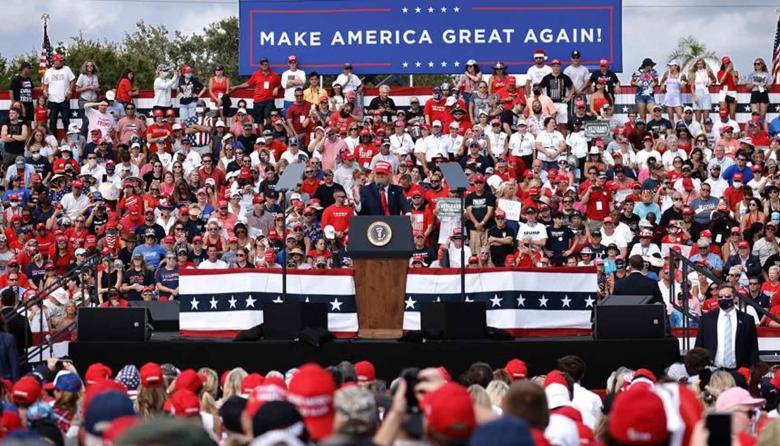 Trump se muestra confiado en la victoria en medio de la jornada electoral