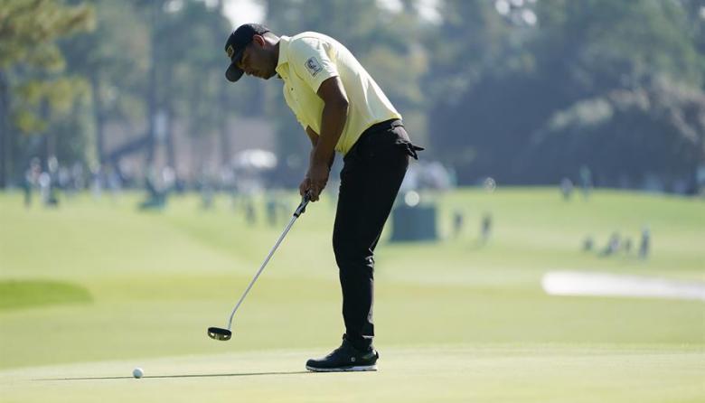 Sebastián Muñoz brilla en el Masters de Augusta y marcha séptimo en el torneo