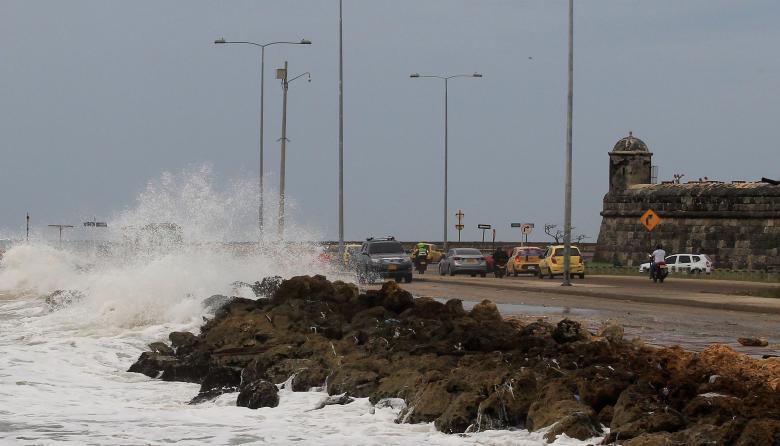 La fuerza del mar en Cartagena, uno de los territorios más afectados.