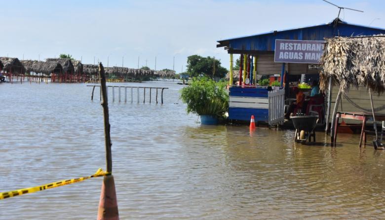 El efecto de Iota también se observa en la zona de playas de Puerto Velero, en Tubará.