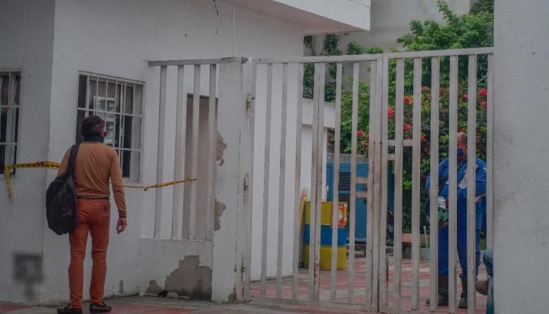 Vista de la sede de la Registraduría de Galapa que en la actualidad está cerrada.