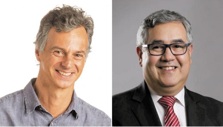 Adolfo Tayhaldart, Consultor en desarrollo de negocios internacionales y Juan Carlos Elorza, director de Análisis y Evaluación Técnica.