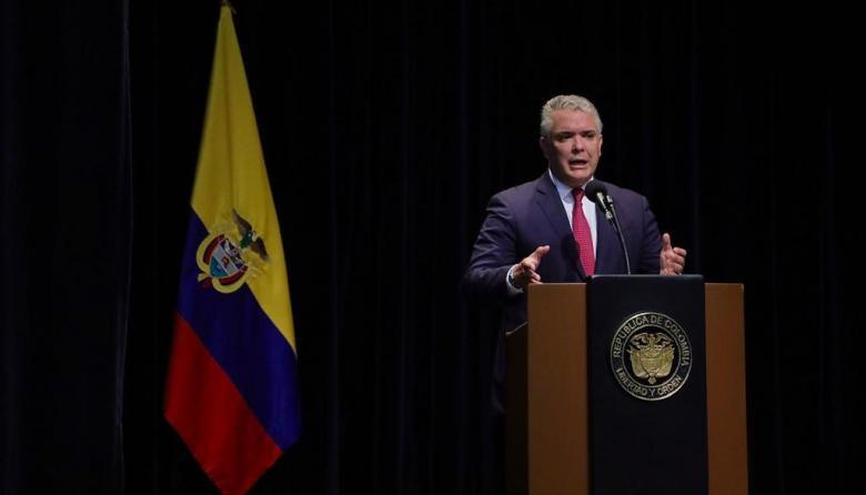 """Narcotráfico está detrás de los asesinatos colectivos"": presidente Duque"