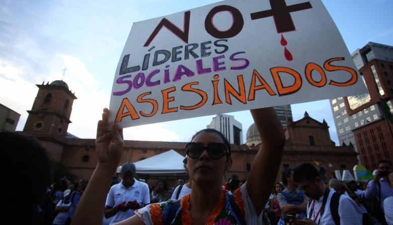 Al menos 40 líderes fueron asesinados en Colombia en tercer trimestre de 2020