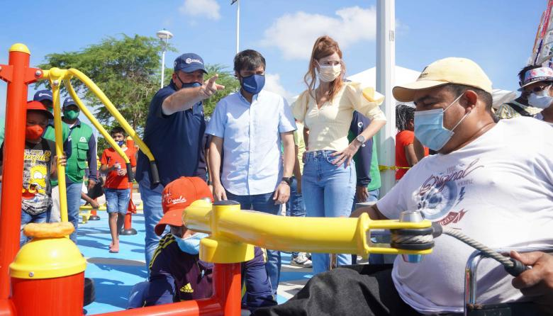 En video   El Edén, primer parque con gimnasio para personas con discapacidad